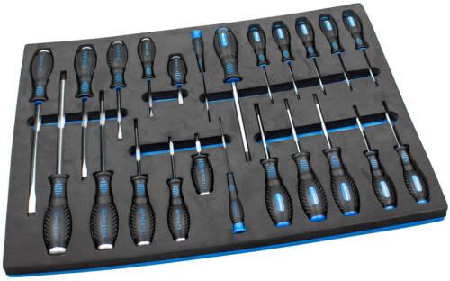 Schraubendreher Satz 23-tg Werkzeug Wagen Set Werkstattwagen Schaumstoff Einlage