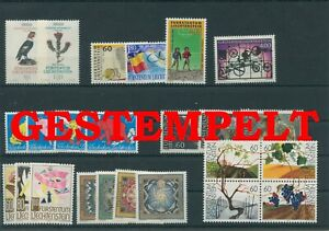 Liechtenstein-Vintage-Yearset-1994-Timbres-Used-Complet-Plus-Sh-Boutique