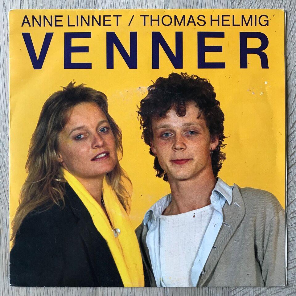 Single, Anne Linnet/Thomas Helmig, Venner/Ingen Anden