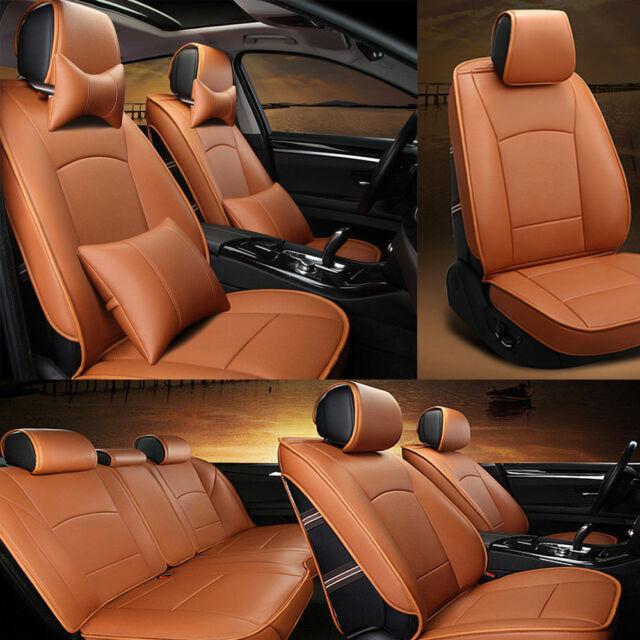 Us Stock Car Seat Cover Cushion For Ford F 150 Deluxe Pu Leather 4
