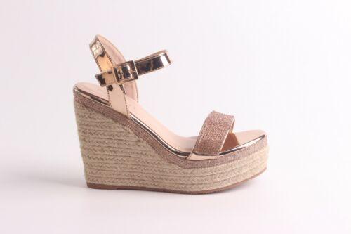 WN4 Boutique apenas hay Diamante Plataforma Tacón Alto Cuñas Sandalias zapatos