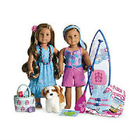 American Girl Doll Kanani's Starter Collection Paddleboard Set Accessories Dog