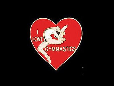SPECTACULAR NEW DESIGN Love Beam Gymnastics Lapel Pin