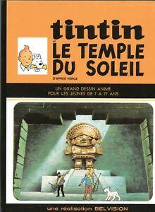 PASTICHE-TINTIN-Le-Temple-du-Soleil-Version-bd-du-dessin-anime-Belvision