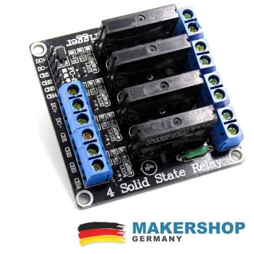 4 Kanal Solid State Relais SSR G3MB-202P 5V DC 2A Modul Arduino Raspberry Pi