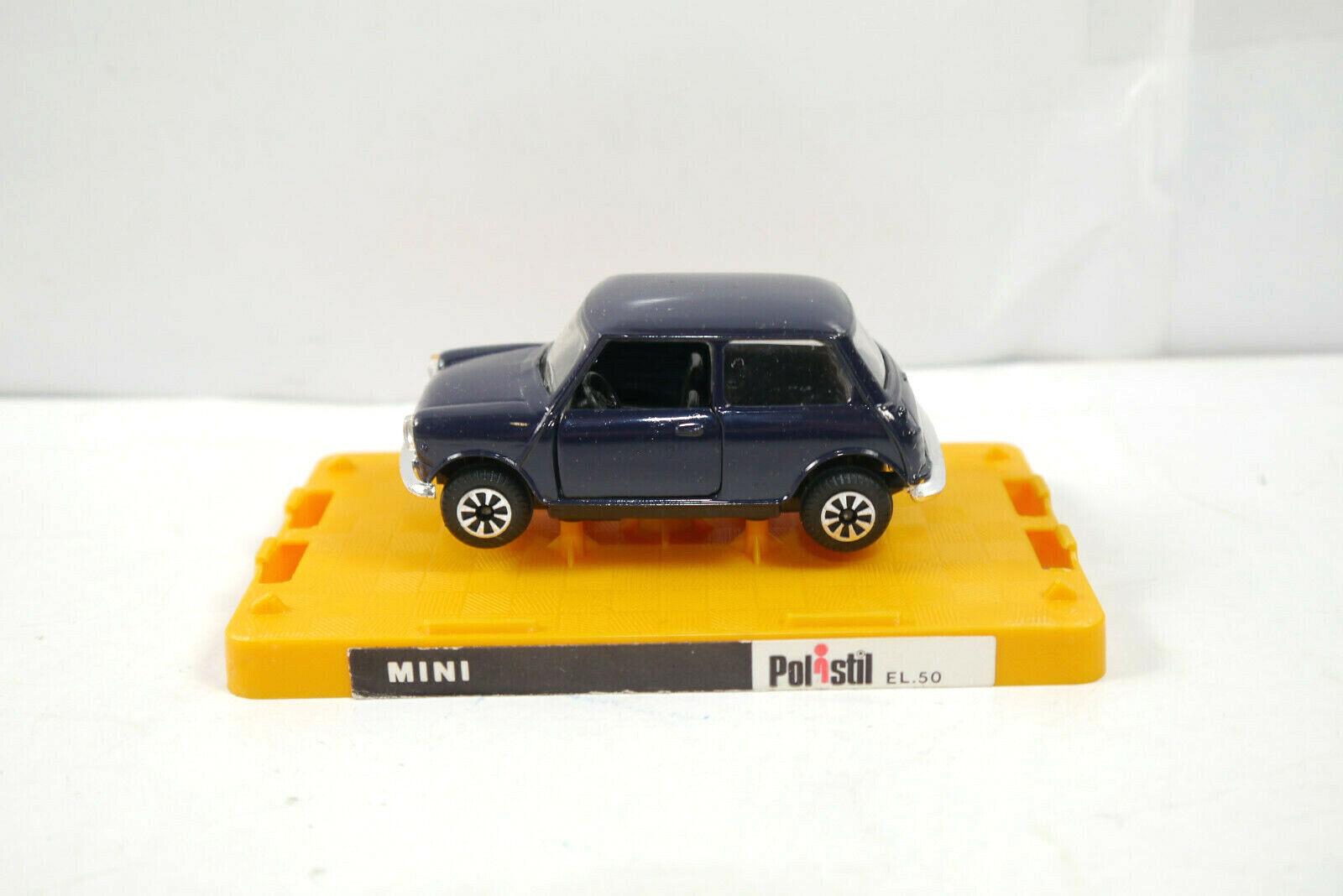 Polisil El.50 Mini Cooper blå Scuro modellllerlerlino bil Made in  1 43 (K37) J