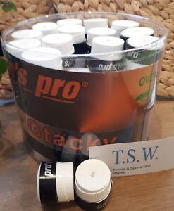 10 Super Tacky Griffband//-bänder TENNIS Squash MINIGOLF Kicker PROS PRO Weiss