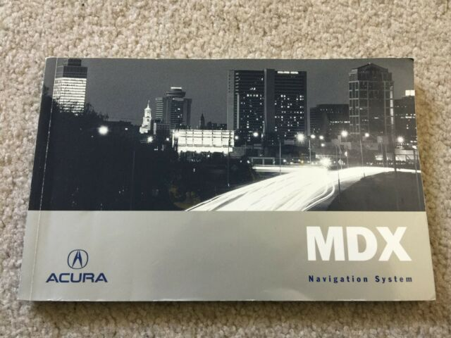 2007 Acura Mdx Navigation Owners Manual Supplement