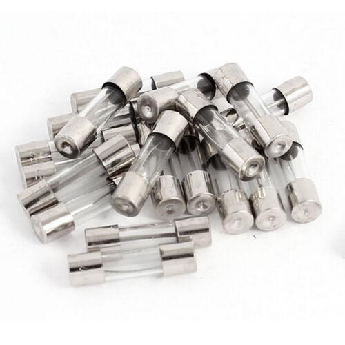 20Pcs 250V 0.8A F0.8AL Quick Blow FUSE  Glass Tube Fuses 5 x 20mm 800mA