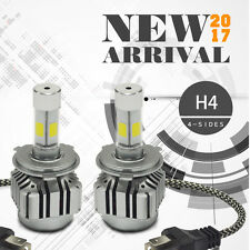 80W 8000lm H4 HB2 9003 All-In-One 4-Sides LED Headlight Kit H/l Beam 6000K Bulbs