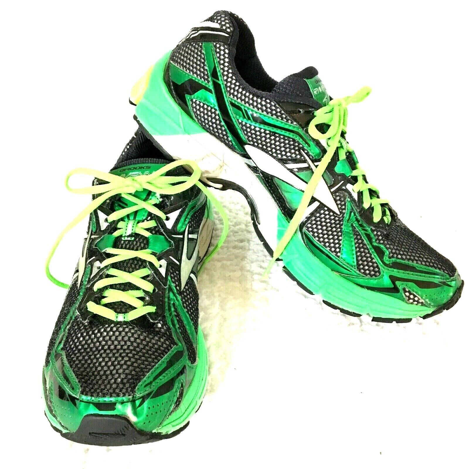Brooks Ravenna 4 Para Hombre Zapatillas Para Correr Talla 11.5 Negro verde Amarillo 1102311D876 DNA