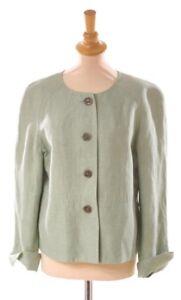 Anne verde Splendida giacca lino mela Klein Uk12 Novità in rWYq7nr6Hx