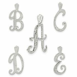 925 Sterling Silver Polished /& Textured Letter E Chain Slide