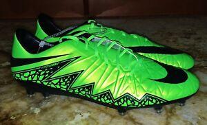 0af3d82a08d NIKE Hypervenom Phatal II FG Lime Green Black Soccer Cleats Mens 8 9 ...