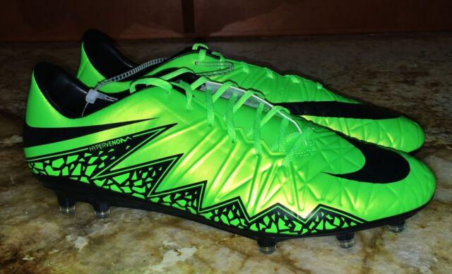 premium selection 956ff 1aa8f NIKE Hypervenom Phatal II FG Lime Green Black Soccer Cleats Mens 8 9 9.5 10  10.5