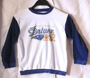 Okay Pullover langärmliges Tier Jungen Kinder Sweatshirt Weiß Größe 128