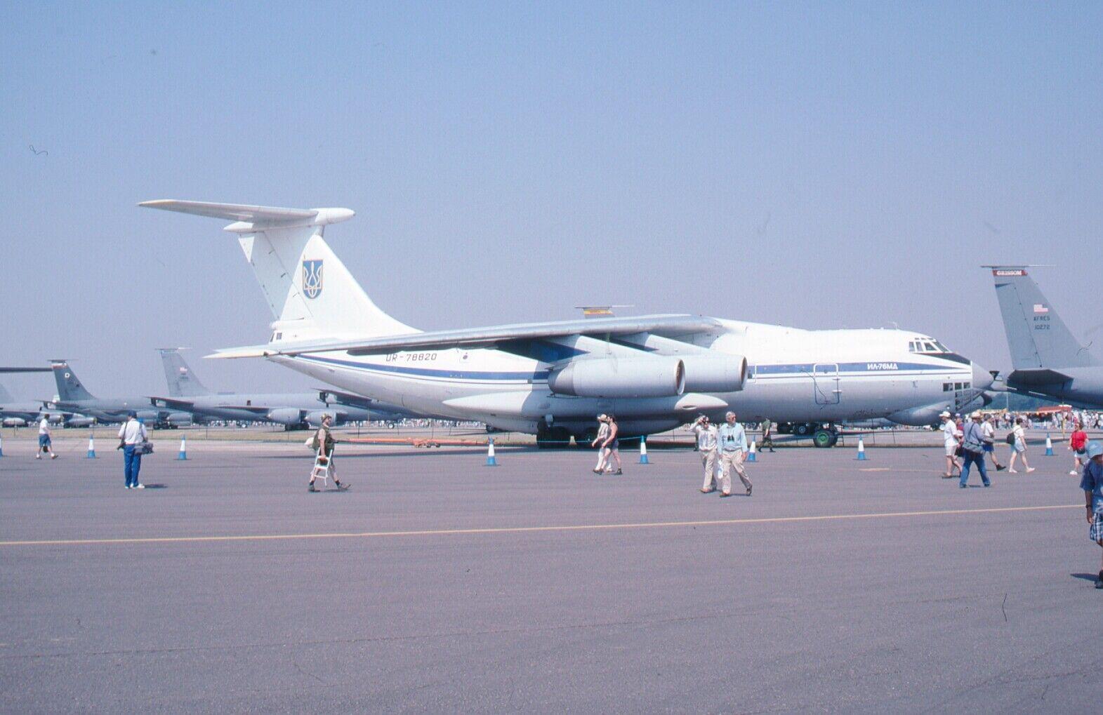 Original 35mm Aircraft slide  Ilyushin Il-76MD  Aeroplane  #74