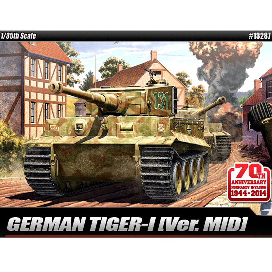 Academy 1 35 German Tiger-I Ver. Mid   Plastic Model Kit Tank