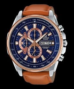 About Chronograph Leather Casio Efr Men's New Edifice 549l Brand 100m Band Details 2a Watches CdxshQtr
