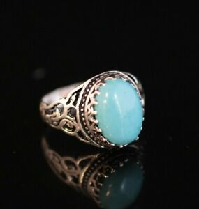 925 Sterling Silver Handmade Authentic Turkish Turquoise Ladies Ring Size 6-10