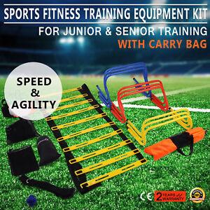 Multi-Sports-Soccer-Fitness-Speed-Training-Equipment-Kit-Set-2-Ladders-Agility
