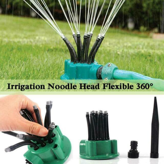 360° Flexible Tube Garden Yard Lawn Sprinkler Water Watering Sprayer System