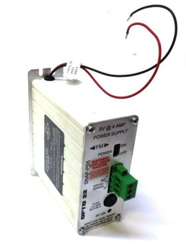 FUSE 1.0 AMP SLO-BLO OPTO22 SNAP-PS5 POWER SUPPLY 5V @ 4 AMP 120VAC