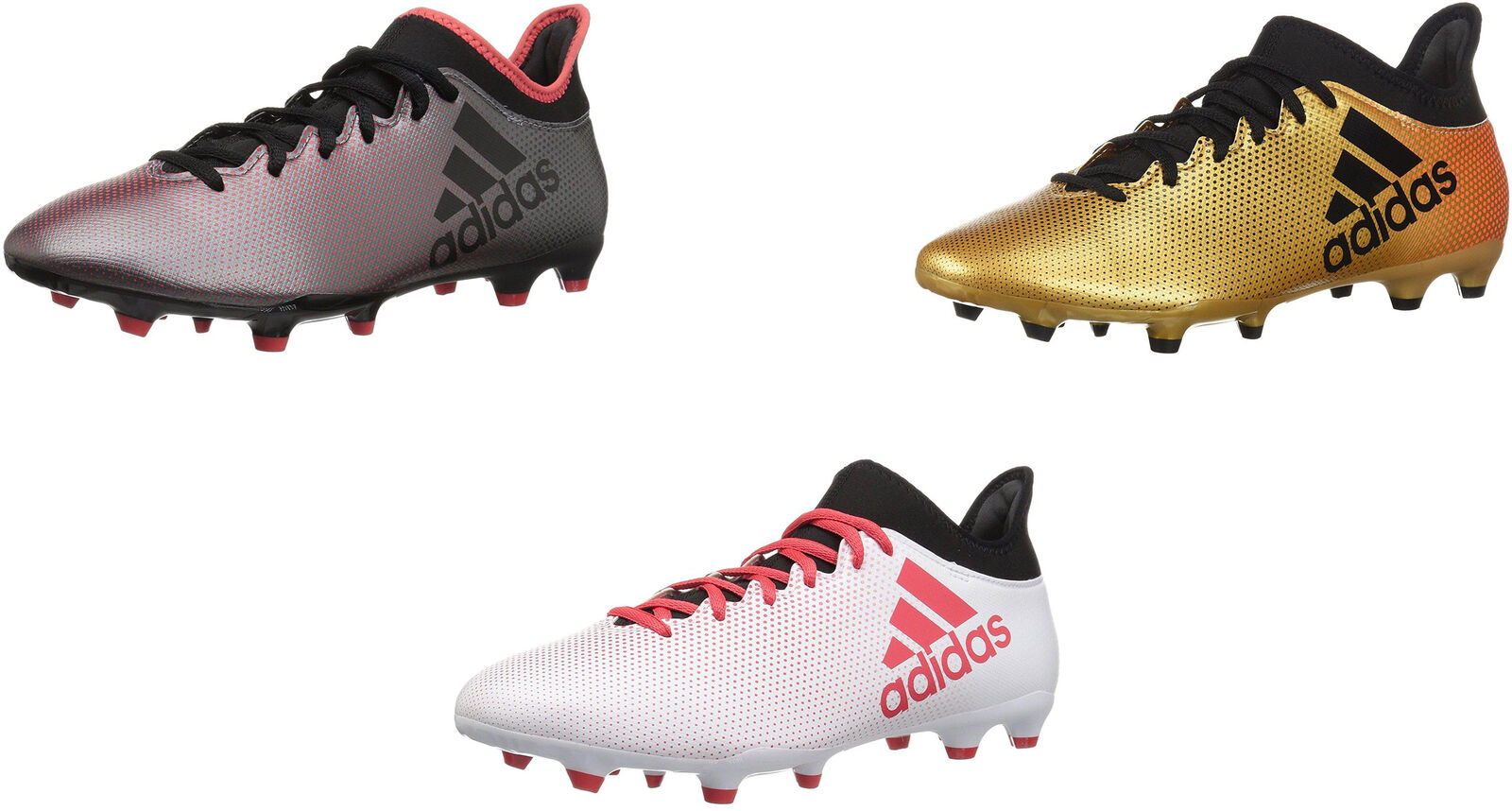 adidas Men's X Cleats, 17.3 Firm Ground Soccer Cleats, X 3 Colors 4df286