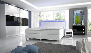Das Bild Wird Geladen Komplett Schlafzimmer Hochglanz  NovaBox Kleiderschrank Bett 2 Nachttische
