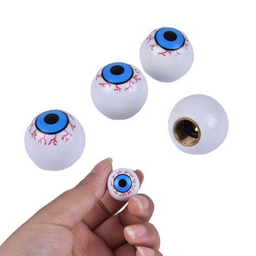 4PCS New Eyeball-Shaped Valve Caps For Metallic Plastic Bikes /& Cars Wheel TNWUS
