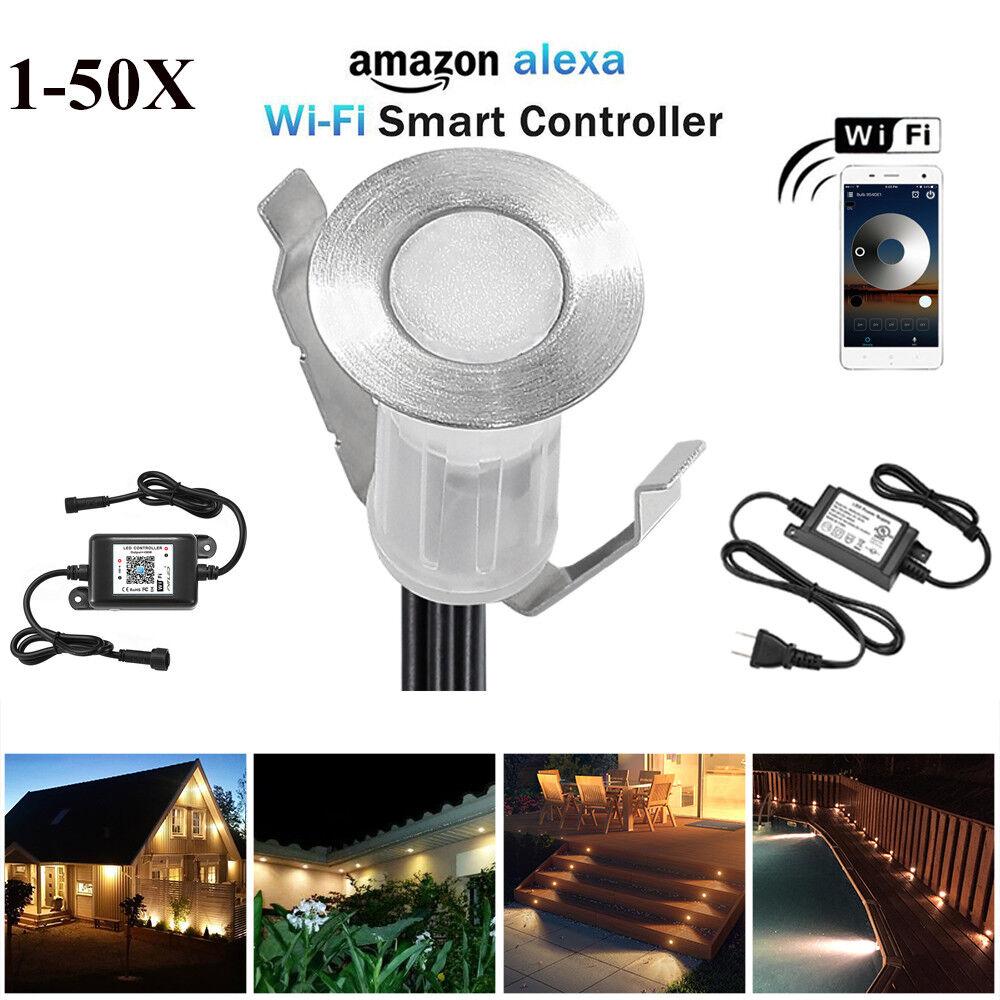 19mm Smart WIFI LED Bodeneinbaustrahler Einbauleuchte Außen Treppe Küche Lampe