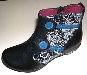 Gemini-Damen-Schuhe-Stiefel-Stiefelette-Boots-11132-schwarz-Leder