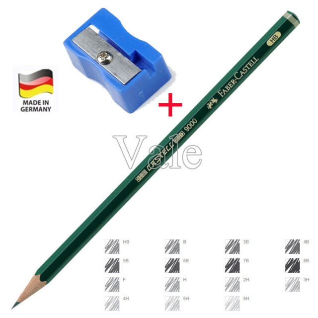 Artist Art Graphite Pencil H 2H HB 2B 3B For Writing Drawing Sketching+Sharpener