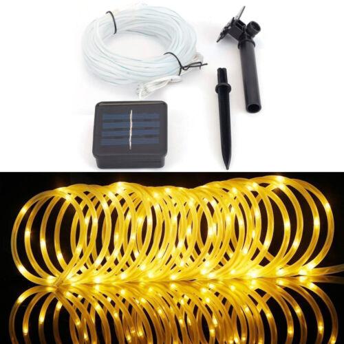 100 LED Solar Power Rope Tube Fairy Lights LED String Waterproof Outdoor Garden