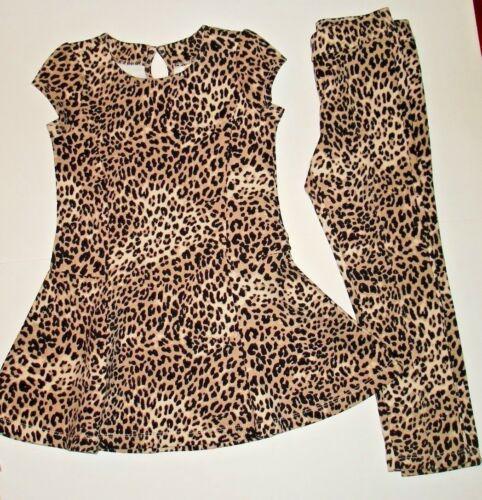NWT Gymboree leopard print short sleeve dress /& leggings girls outfit size 5