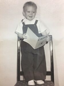 Vintage-Photo-7x5-Cute-Little-Boy-Toddler-Singing-a-Christmas-Carol-Song-Jackie