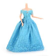 Best Handmade Clothes Dresses For Barbie Doll & Disney Princess Blue Nice