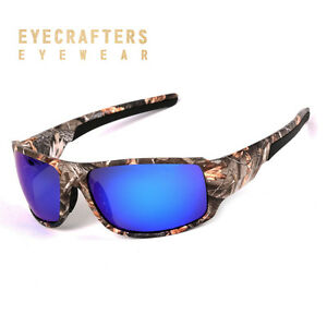 3b84693481 Image is loading Polarized-Sport-Sunglasses-Mens-Camo-Camouflage-Sunglasses -Fishing-