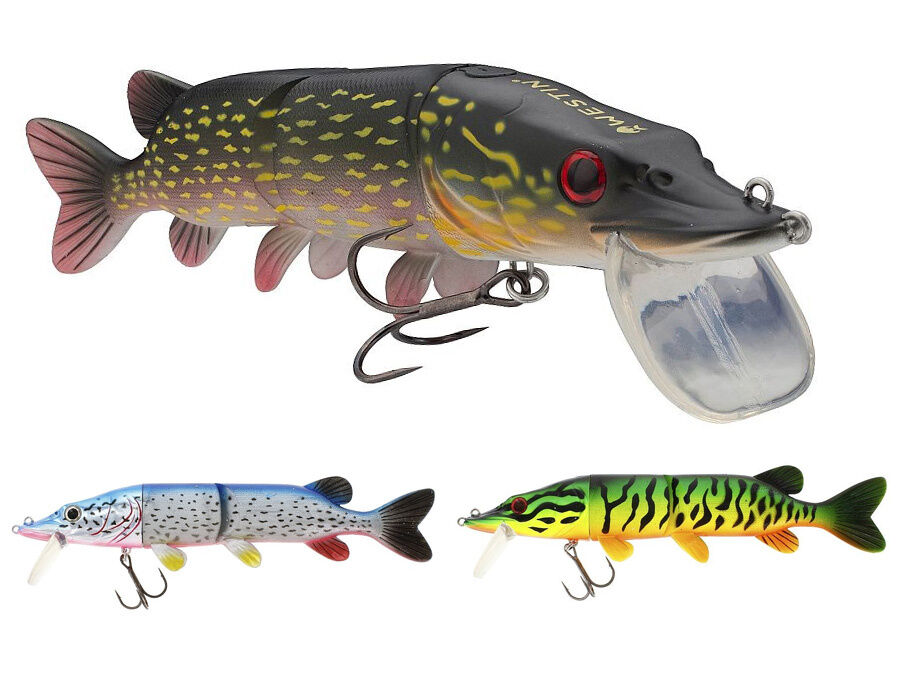 Westin Mike the Pike Hybrid   28cm 185g   hard head with soft body lure  COLORS