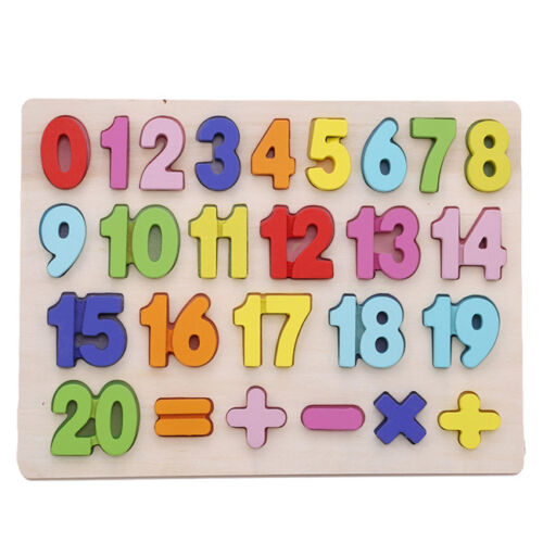 Alphabet Wooden Animal Puzzle Jigsaw Toddler Childrens Kids Educational Tool 8M