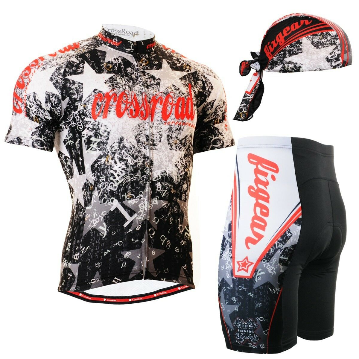 FIXGEAR CS-2402-SET Cycling Jersey & Shorts Padded,  MTB Bike, BMX, Bicycle Wear  ultra-low prices