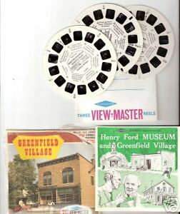 SAWYER'S View Master GREENFIELD VILLAGE packet A 584 scenic 3 reels set USA town