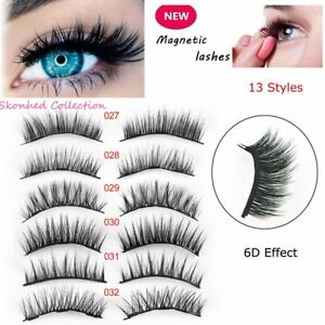3D-Magnetic-False-Eyelashes-No-Glue-Handmade-Natural-Extension-Eye-Lashes-Thick