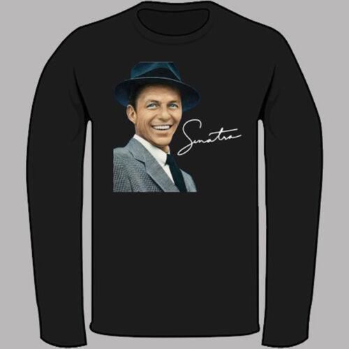 Frank Sinatra Classic Music Legend Black Long Sleeve T-Shirt Size S-3XL