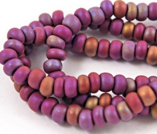 """Czech Glass Seed Beads Size 6//0 /"""" LIGHT BROWN IRIS MATTE /"""" Strands"""