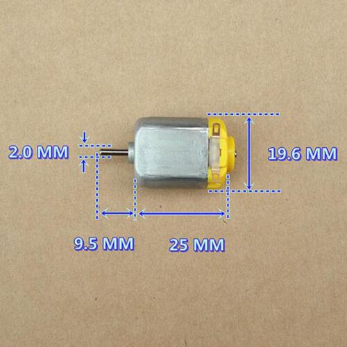 2PCS DC 6V-12V 13300RPM High Speed Mini 130 Motor DIY RC Toy Slot Car Ship Model