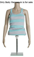 Retails Plastic Female Half Body Mannequin With Removable Arms