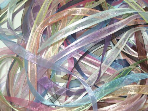 20 m de 10 mm Organza Ribbon