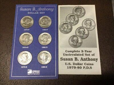 Anthony Dollar  Set 1979 P D  S  Susan B