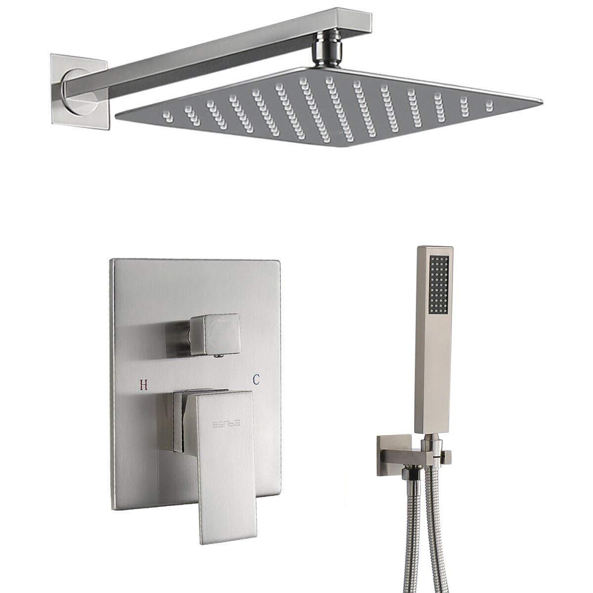 Shower Faucet Set Rainfall Shower Head With Hand Shower